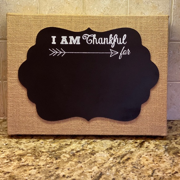"""Hobby Lobby """"I am Thankful For"""" Sign - New W/ Tag"""